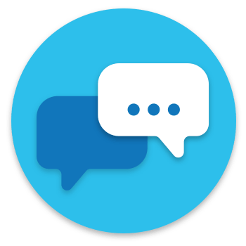 Contact support text bubble